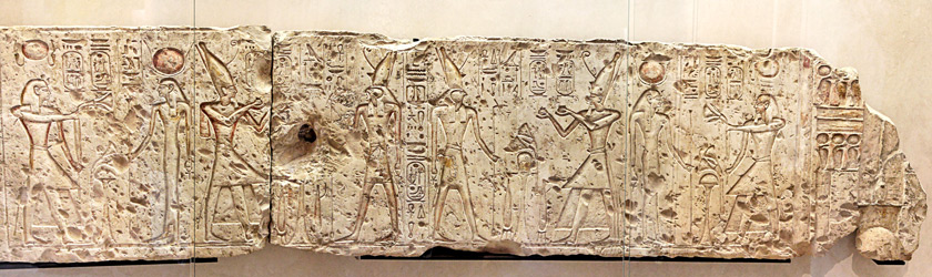 Ramesses, Isis and Horus
